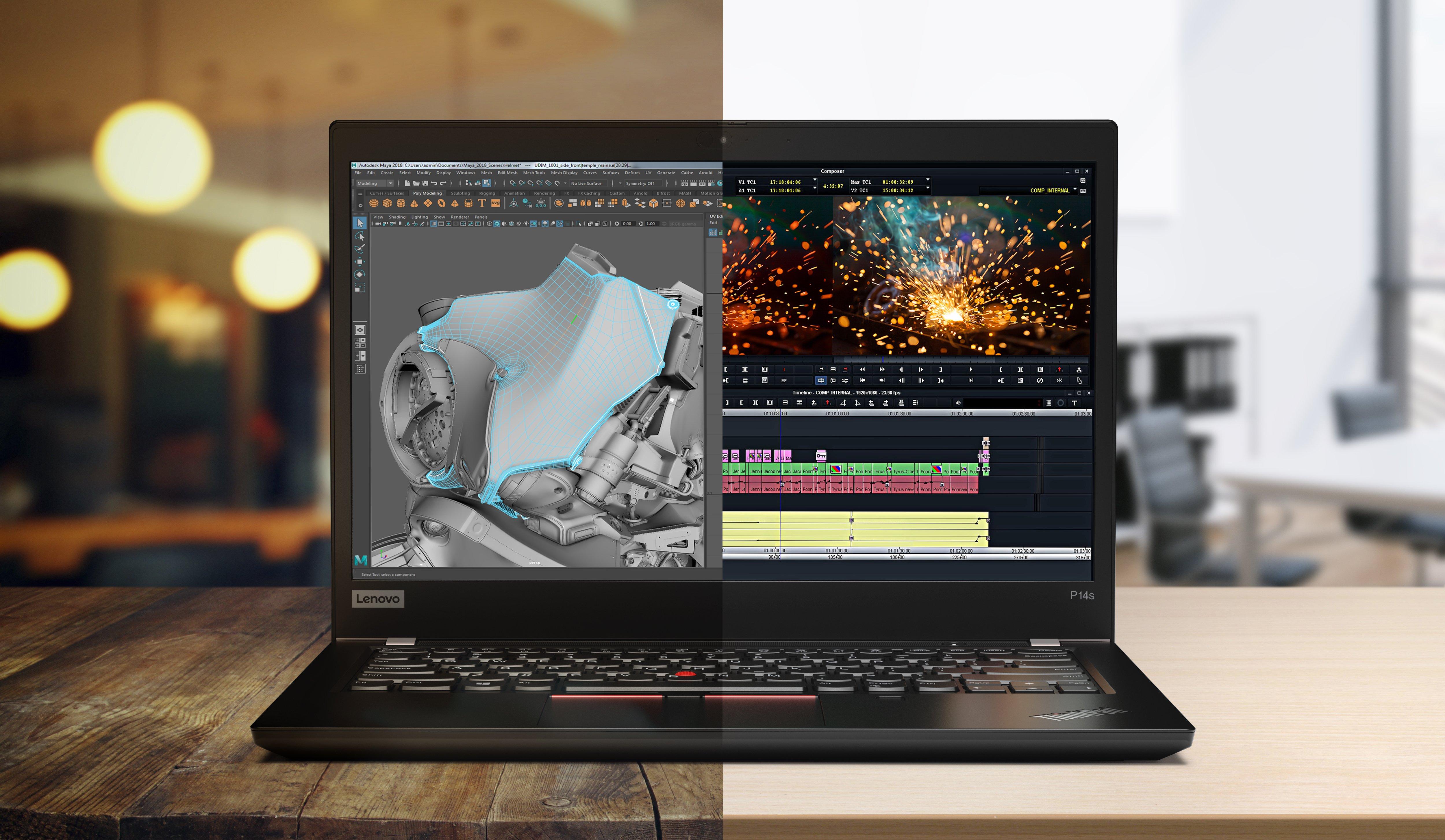 ThinkPad P14s Lifestyle Image M&E